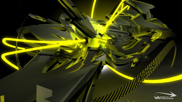 3d graff caution